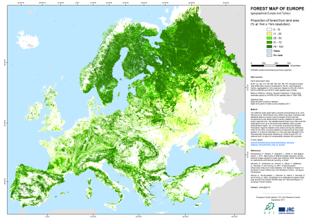 Plate 1 Chapter 1Europ forest cover_v2011_A3_500dpi
