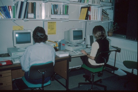 chris and caroline on computer 2-95