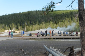 19_9 Upper Geyser area visitors waiting for old faithful 2
