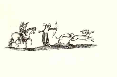 medieval forester huntsman