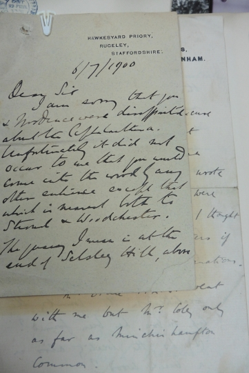 Letter to Druce explaining why he did not find Ceph rub